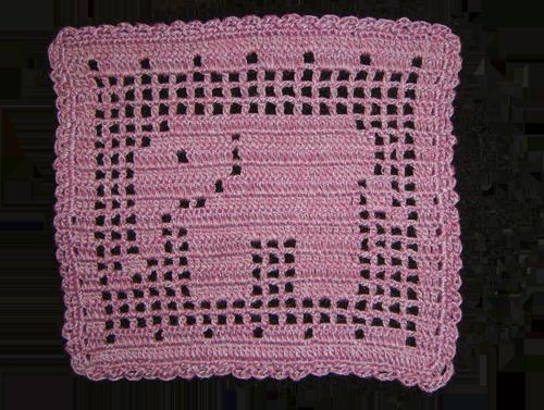 方形深淺紫色象杯墊